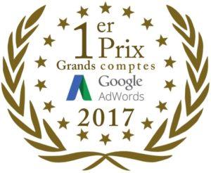 1er prix 2017 Google Partner